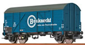 """Covered Freight Car Gms 35 """"Bauknecht"""" DB"""