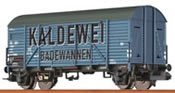 """Covered Freight Car Gms 35 """"Kaldewei"""" DB"""