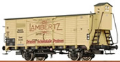 German Covered Freight Car G LAMBERTZ of the DR