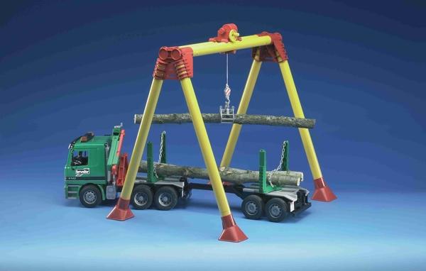 Jib Pole Crane : Bruder mb actros pole loading truck with portal jib crane
