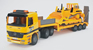 MB Flatbed Truck with Bulldozer in Yellow