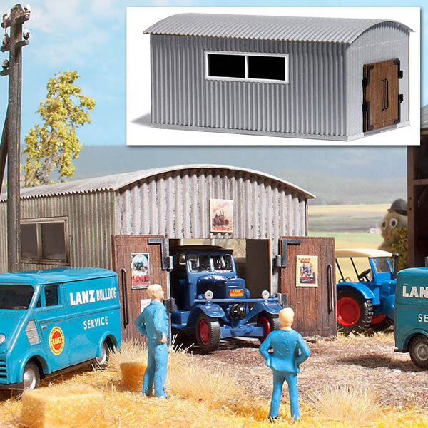 Busch 1064 - Corrugated Metal Work Shed