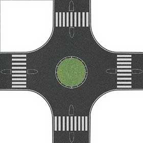 Busch 1102 - Roundabout (traffic circle)
