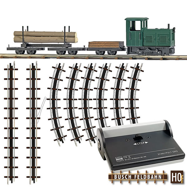 Busch 12003 - Starter Set - Lumber Train
