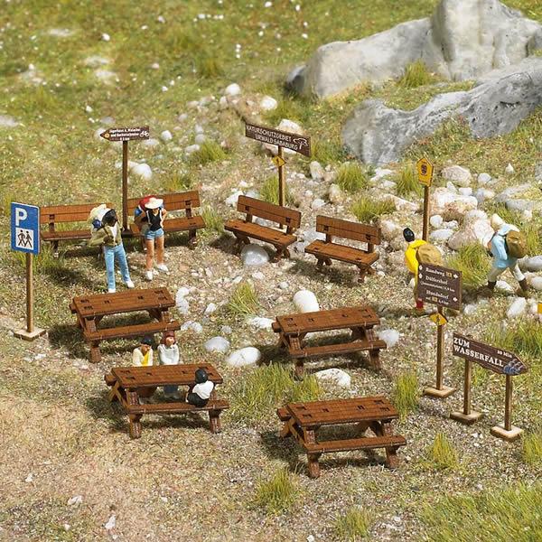 Busch 1484 - Wooden Outdoor Furniture Set