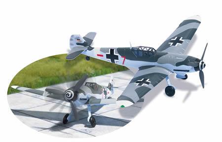 Busch 25090 - Messerschmitt Bf109 G4