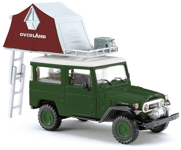 Busch 43014 - Toyota Land Cruiser with dome tent, green