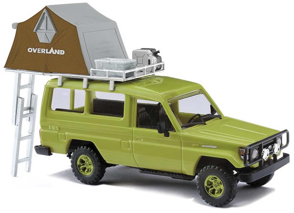 Busch 43514 - Toyota HZJ78 with dome tent, green