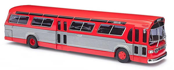 Busch 44501 - American bus Fishbowl, red