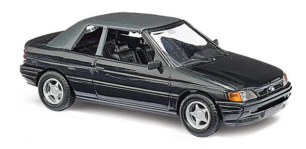 Busch 45702 - Ford Escort convertible, closed. Black
