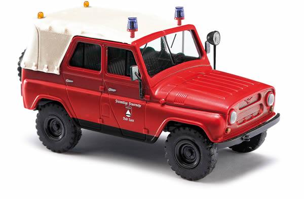 Busch 52107 - UAZ 469 mit Dach, Feuerwehr Bad Laer