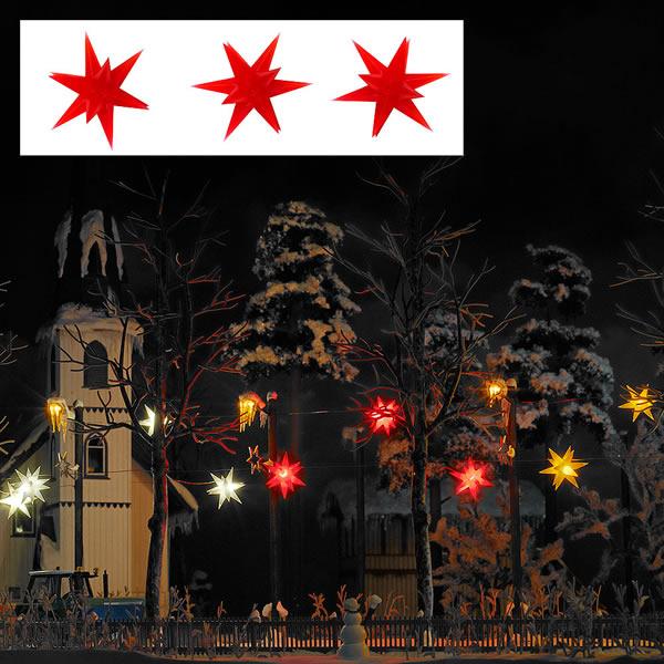 Busch 5416 - 3 Illuminated Stars red