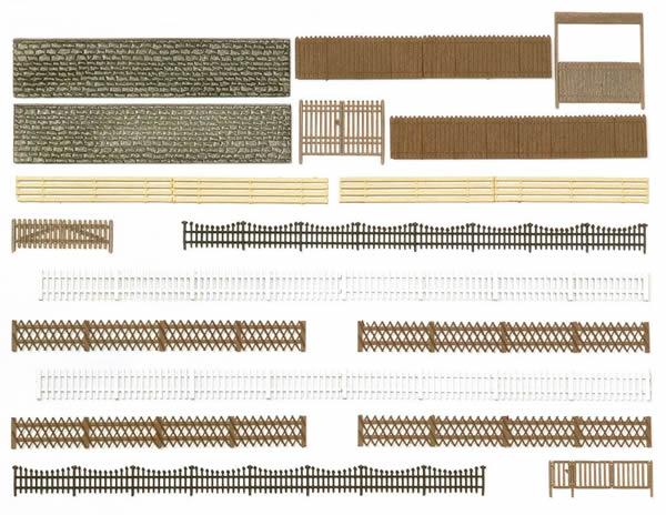 Busch 6017 - Fences, walls and gates