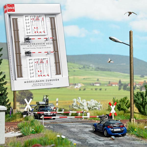 Busch 6020 - Railway Crossing Set