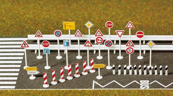 Busch 6027 - Traffic Sign Set