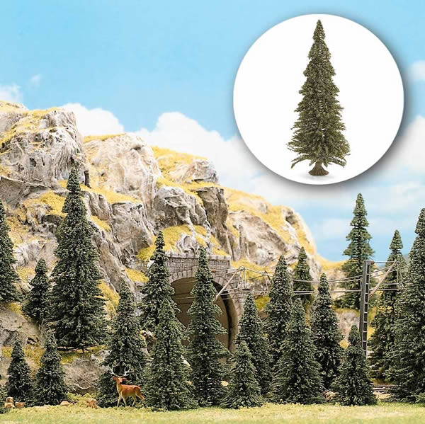 Busch 6476 - 20 Pine trees with roots