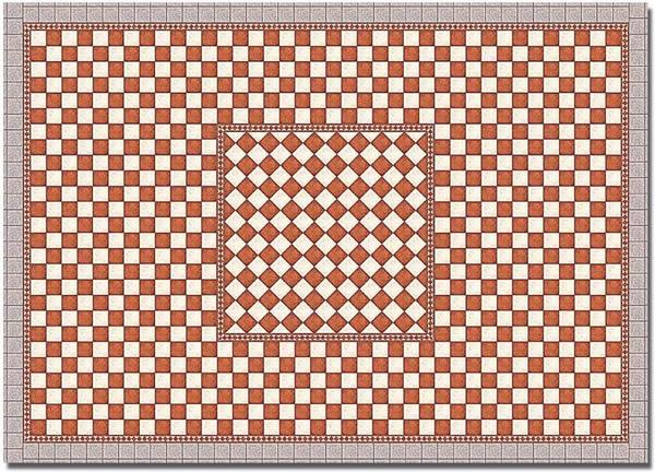 Busch 7413 - Decor sheets »Flagstone plaza (Antique)«