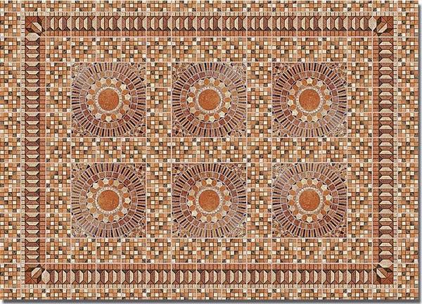 Busch 7414 - Decor sheets »Flagstone plaza (Rustic)«