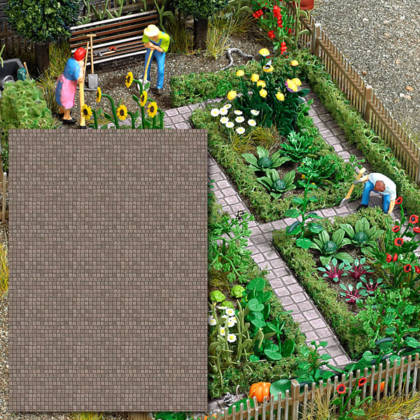 Busch 7427 - Decor Sheets »Stone Pavement«