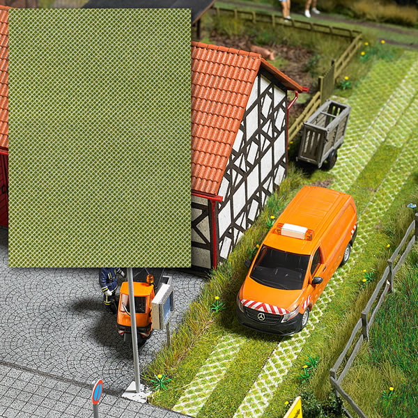 Busch 7430 - Paving Block Panel with Grass Openings