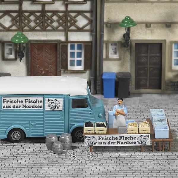 Busch 7708 - Mini World »Market Stand Fish«