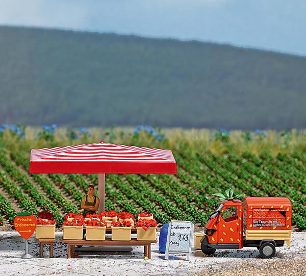 Busch 7725 - Mini World - Strawberry Sales Stand