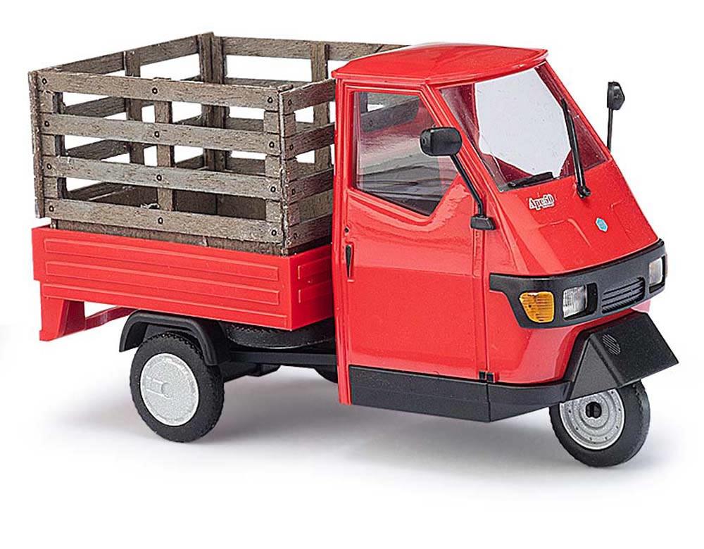 busch 60057 piaggio ape 50 1 43 with mesh box. Black Bedroom Furniture Sets. Home Design Ideas