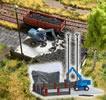 Coal Stockpile with Excavator