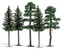 3 spruces / 2 pines