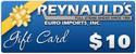 REI $10.00 Dollar Gift Certificate