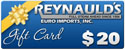 REI $20 Dollar Gift Certificate