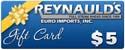 REI $5 Dollar Gift Certificate