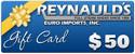 REI $50 Dollar Gift Certificate