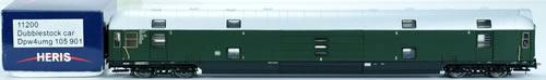 Consignment 11200 - Heris 11200 Double Decker Freight Car Dpw4umg-105901 DB