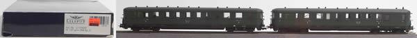 Consignment 112503 - Liliput 112503 2pc German Diesel Railcar Set VT 137/VS 145 grün of the DRG
