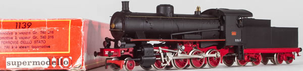 Consignment 1139 - Rivarossi 1139 Italian Steam Locomotive GR 740-316 of the FS