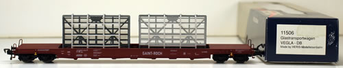 Consignment 11506 - Heris 11506 4-axle Low-Loader Wagons of the DB