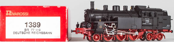 Consignment 1389 - Rivarossi 1389 German Steam Locomotive BR 77 119 of the DB