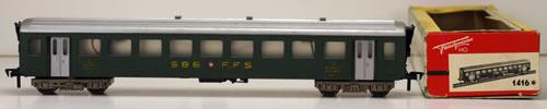 Consignment 1416 - Fleischmann 1416 2nd Passenger Coach of the SBB