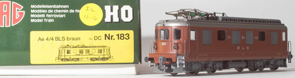 Consignment 183 - HAG 183 Swiss Electric Locomotive Ae 4/4 of the BLS