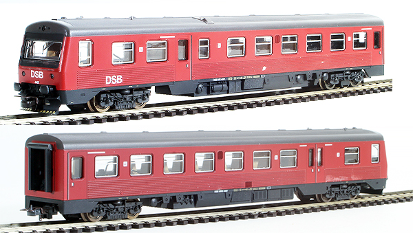 Consignment 208573 - Lima 208573 Danish 2pc Railcar Set MR + MRD Dummy of the DSB