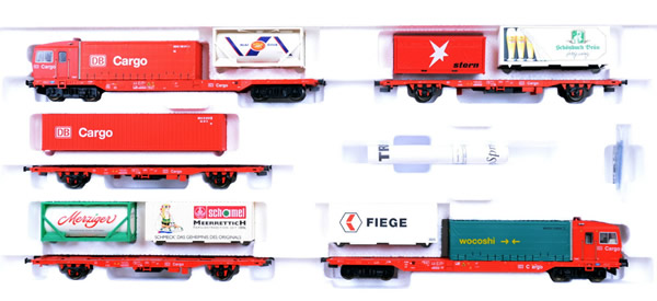 Consignment 22543 - Trix German 5pc CargoSprinter Powered Freight Railcar Train Set