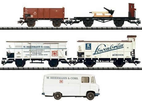 Consignment 24029 - Trix 24029 4pc Ships Provisions Freight Car Set