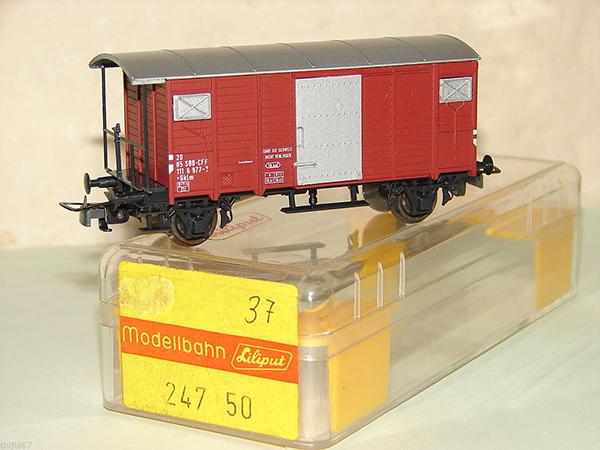 Consignment 247 - Liliput Modelbahn 247 SBB Covered Wagon