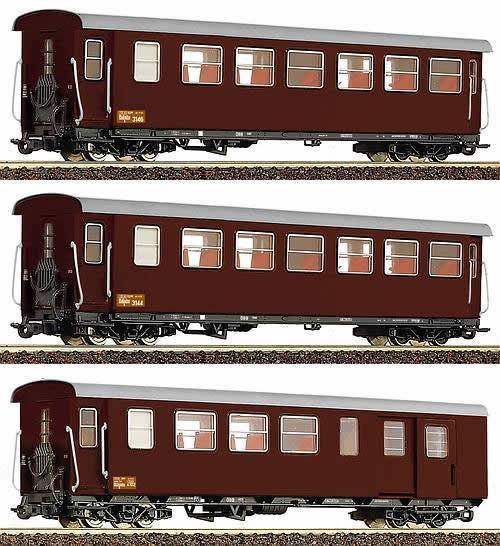 Consignment 34090 - Roco 34090 3pc Passenger Car Set