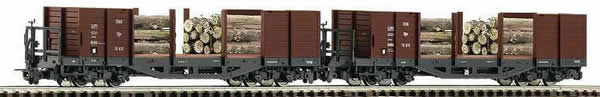 Consignment 34594 - Roco 34594 2pc Freight Car Set with Wood Load