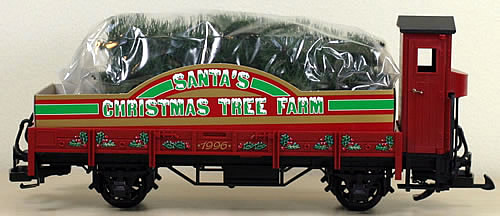 consignment 41120 lgb 41120 santas christmas tree farm flat car
