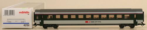 Consignment 42151 - Marklin 42151 Passenger Car SBB