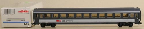 Consignment 4366 - Marklin 4366 2nd Class Passenger Car SBB
