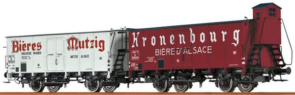 Consignment 45986 - Brawa 45986 2pc Beer Car Set Bière Mutzig and Wieselburger Bier